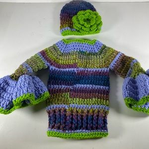 Hand Made Crochet Baby Outfit